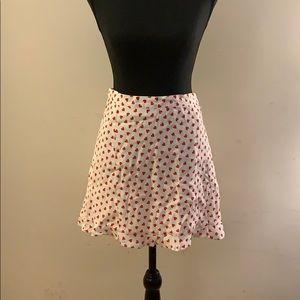 Mini Skirt w/ Heart Details & Ruffles Bottom- NWT